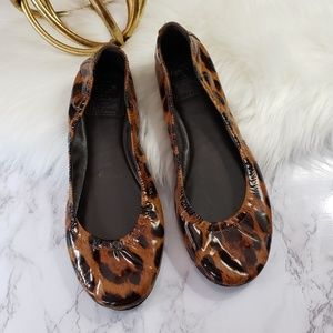 Tory Burch | 6.5 Eddie ballet flat leopard animal